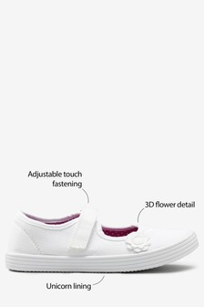 Flower Plimsolls (Older Girls)