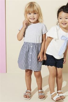 Stripe Two Part Dress (3mths-6yrs)