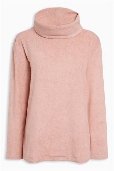 Cosy Fleece Layered Back Top