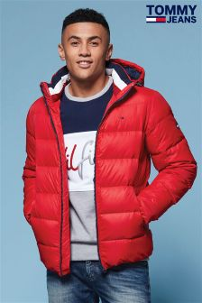 Tommy Jeans Red Down Padded Jacket