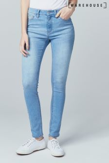 Warehouse Stone Powerhold Skinny Cut Jean