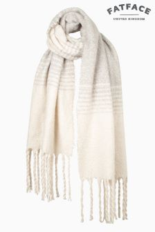 Fat Face Cream Freya Graduated Stripe Scarf
