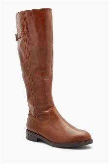 Classic Leather Rider Boots