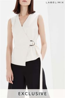 Mix/Rejina Pyo Belted Tailored Top