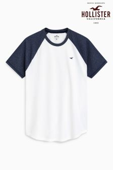 Hollister Navy/White Raglan T-Shirt