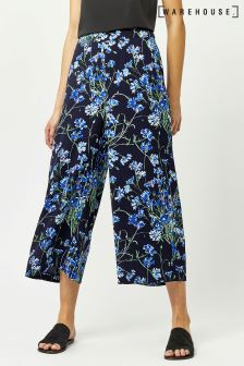 Warehouse Black/Blue Full Bloom Culotte