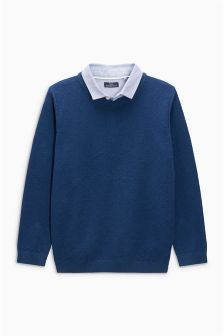 Mock Shirt Jumper (3-16yrs)