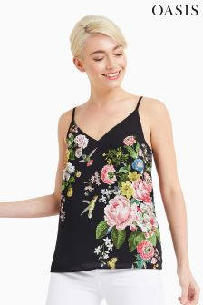 Oasis Black Royal Worcester Cami