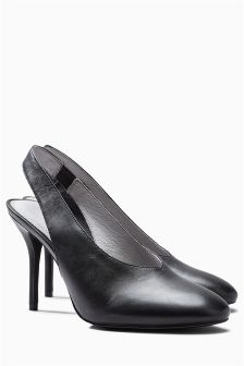 Leather Slingback Courts