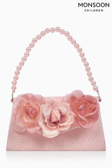 Monsoon Pink Corsage Glitter Mini Bag