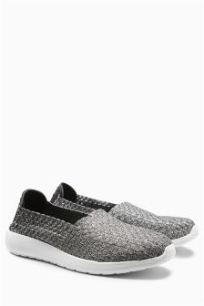 Elastic Slip-On Trainers