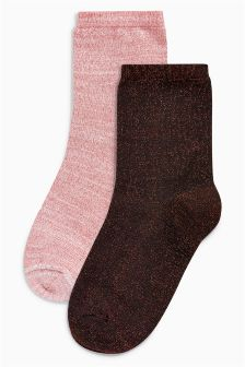 Sparkle Ankle Socks in a Gift Bag Two Pack