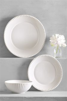 12 Piece Country Luxe Earthenware Dinner Set