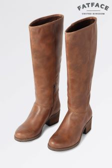Fat Face Brown Whitby Knee High Boots