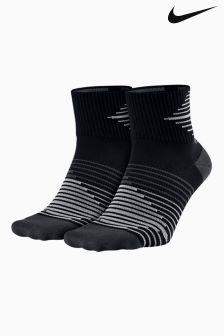 Nike Performance Lightweight Quarter Running Sock Two Pack