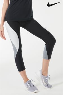 Nike Black/Grey Power Legend Training Crop