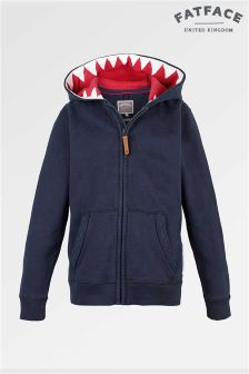Fat Face Mid Navy Shark Tooth Sweat
