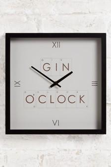Gin Wall Clock