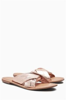Cross Mule Sandals