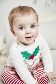 Christmas Pudding Sleepsuit (0mths-2yrs)