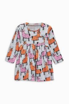 Llama Print Long Sleeve Tunic (3mths-6yrs)