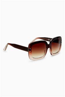 Square Glitter Ombre Sunglasses