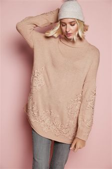 Lace Overlay Sweater