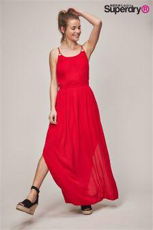 Superdry Blake Red Ring Maxi Dress