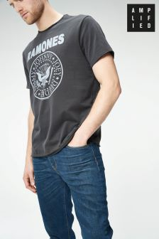 Amplified Charcoal Ramones Band T-Shirt