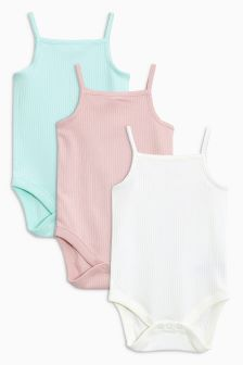 Vest Bodysuits Three Pack (0mths-2yrs)