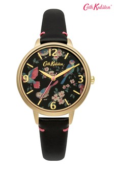 Cath Kidston Black Floral Dial Watch