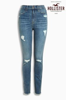 Hollister Mid Wash Ripped Skinny Jean