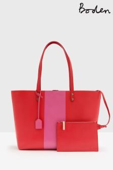 Boden Pink Luxe Leather Shopper