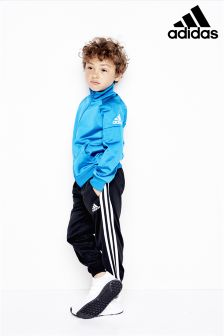 adidas Little Kids Blue/Black Tracksuit