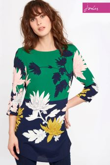 Joules Green Floral Felicia Woven Tunic