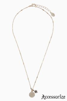 Accessorize Gold Phoebe Star Charm Pendant Necklace