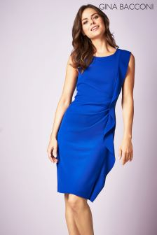 Gina Bacconi Blue Naomi Frill Dress
