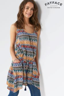 Fat Face Polly Tribal Geo Longline Top