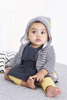 Stripe Hooded Cardigan (0mths-2yrs)