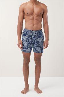 Dot Floral Swim Shorts