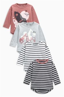 Rocket Long Sleeve T-Shirts Four Pack (3mths-6yrs)