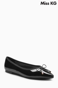 Miss KG Black Patent Melia Point Pump