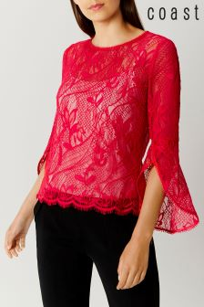 Coast Pink Tricia Lace Top