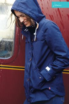 Joules Navy Waterproof Hooded Coast Jacket