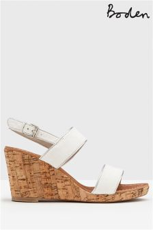 Boden White Louisa Wedge