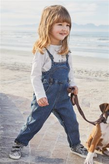 Denim Dungarees And T-Shirt Set (3mths-6yrs)