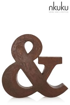 Nkuku Distressed Iron Industrial Letter