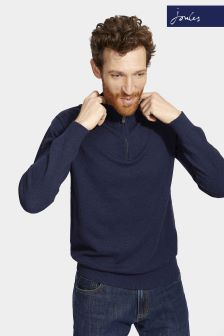 Joules Navy Half Zip Hillside Jumper