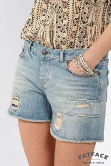 Fat Face Denim Patched Short