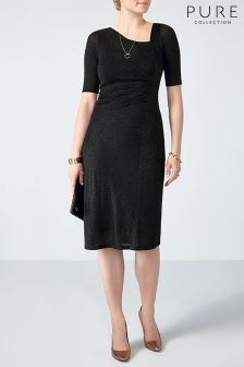 Pure Collection Black Lurex Jersey Dress